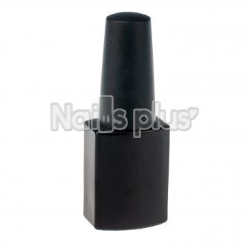 Бутылочка квадратная, черная с кисточкой 12 мл