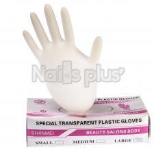 Перчатки одноразовые виниловые белые  (100)