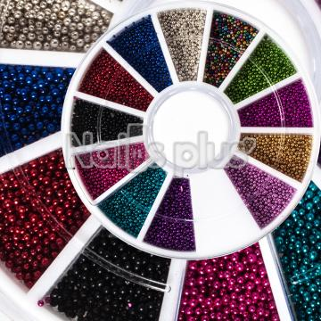 Бульонки, цветные, декор в карусельке 12 ячеек