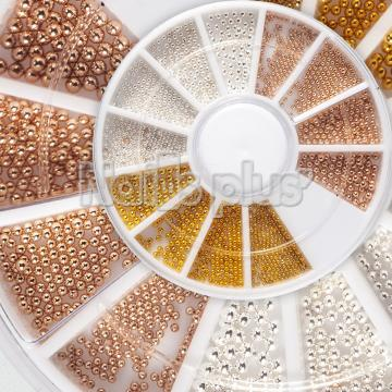 Бульонки, металлические 3 цвета, карусельке 12 ячеек