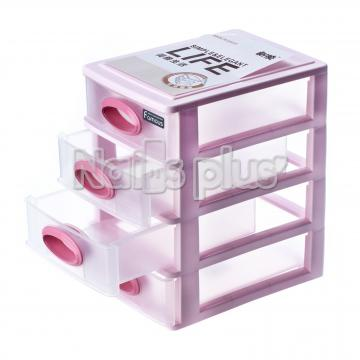 Контейнер на большие 4 секции розовый