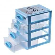 Контейнер на большие 4 секции голубой