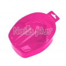 Ванночка для маникюра пластиковая малиновая