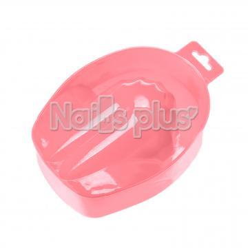 Ванночка для маникюра пластиковая нежно-розовая