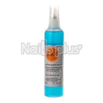 Антисептическая жидкость для предварительной подготовки ногтей 118 мл. Голубая