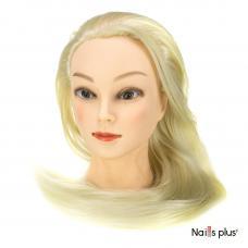 Голова учебная для причесок 30% натуральных волос 65-70 см,блондинка