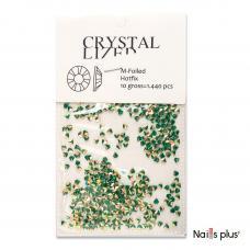 Декор  для ногтей лепесток зеленый перламутр