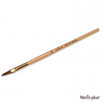 Кисть для лепки №10 с деревянной ручкой YRE