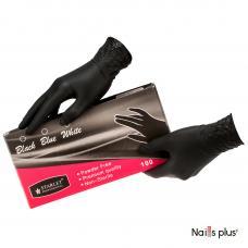 Перчатки одноразовые без талька черные (100)