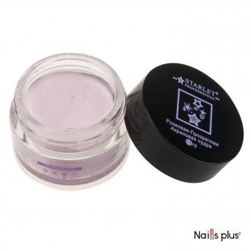 Акриловая пудра Starlet Professional розовая-прозрачная (15 г)