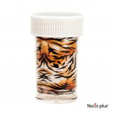 Фольга переводная в баночке тигр