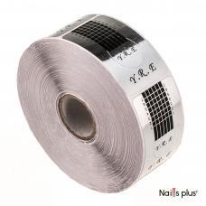 Форма  для наращивания ногтей узкая серебро
