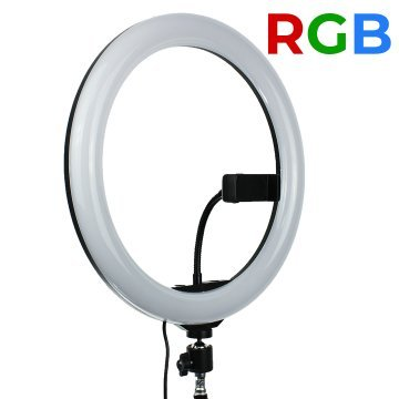 Лампа кольцевая RGB MJ-33 (238 диодов) 33 см