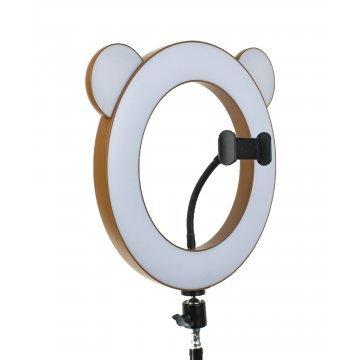 """Лампа кольцевая """"Коричневый мишка"""" диаметр 27 см"""