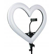 """Лампа кольцевая RGB """"Черное сердце"""" 48 см"""