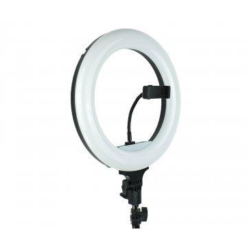 Лампа кольцевая RGB MJ-26 (200 диодов) 26 см