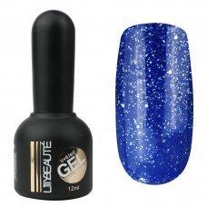 Гель-лак Lilly Beaute №145, 12 мл синий с блестками