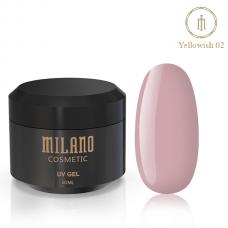Гель Для Наращивания Milano Yellowish 50 ml