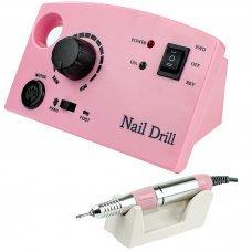Фрезер для маникюра с насадками ZS-602 (розовый)