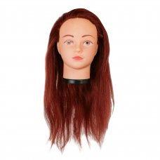 Голова учебная для причесок,искусственный волос 50-55 см,бордовый