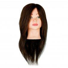 Голова учебная для причёсок натуральная, шатен