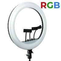 Лампа кольцевая RGB MJ-18 (436 диодов) 45 см с сумкой