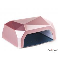 Лампа LED+CCFL многогранник 36 Вт сенсорная розовая