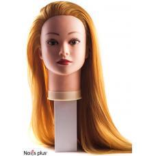 Голова тренировочная с длинными рыжими волосами