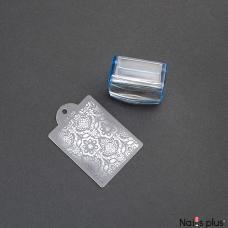 Печать силиконовая квадратная с трафаретом
