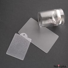 Печать силиконовая  с трафаретом прозрачная широкая