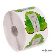 Форма для наращивания ногтей YRE - зелёный лист, 500 шт