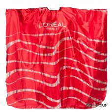 Пеньюар парикмахерский Loreal атласный красный с волнами