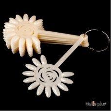 Палитра для лаков YRE в виде розы 120 ногтей матовая 10 шт
