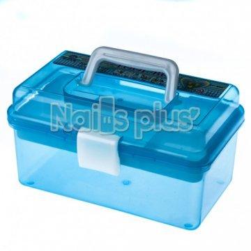 Бокс пластмассовый нежно-синий съемный на 4 ячейки