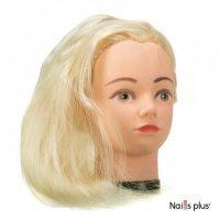 Голова учебная для причесок,искусственный волос 50-55 см,белый