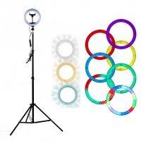 Лампа кольцевая RGB d8 (110 диодов) 20 см
