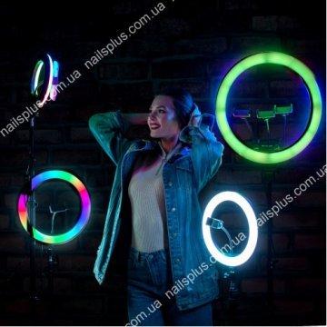 Лампа кольцевая радуга 33 см