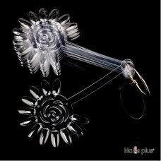 Палитра для лаков YRE в виде розы 120 ногтей прозрачная 10 шт
