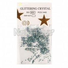 Глиттер кристаллы бирюза хамелеон 1440 шт