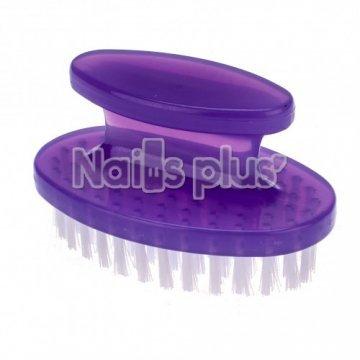 Щеточка для ногтей пластиковая фиолетовая большая
