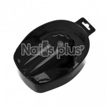 Ванночка для маникюра пластиковая черная