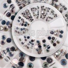 Декор в карусельке стразы крупные серебро
