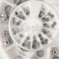 Серебрянные фигурки, декор в карусельке 12 ячеек