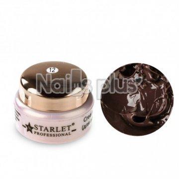 Крем-гель Starlet Professional для лепки 12 коричневый (5гр)