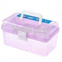 Бокс пластмассовый прозрачный съемный с мелкими ячейками фиолетовый