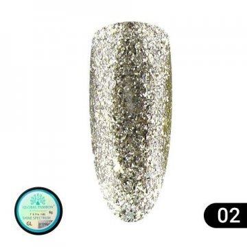 Гель-краска Shine Spectrum Global Fashion GL-02 5 мл , бронзовое серебро