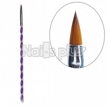 Кисть для акрила фиолетовая YRE YKAK-04ВА