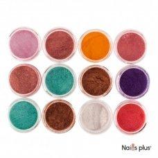 Глиттер декор для ногтей цветной (12 шт.)