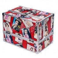 Алюминиевый кейс для косметики RED FRAMES
