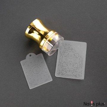 Печать силиконовая с трафаретом золото